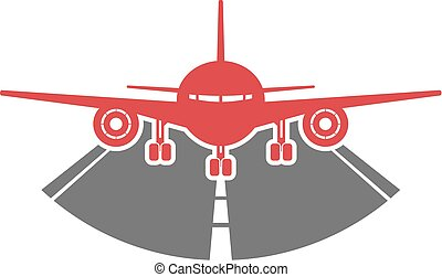 airlines plane icon - Creative design of airlines plane icon