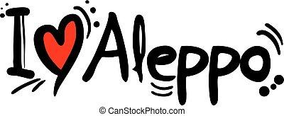 Aleppo love message - Creative design of Aleppo love message
