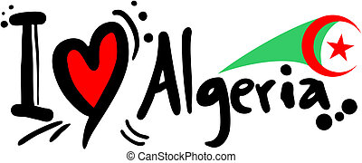 Algeria love - Creative design of Algeria love