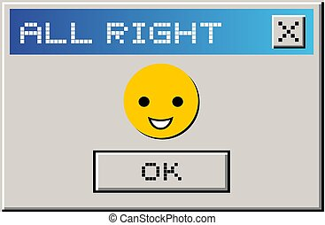 Creative design of All right computer message