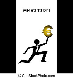 ambition illustration - Creative design of ambition...