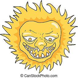 angry sun funny