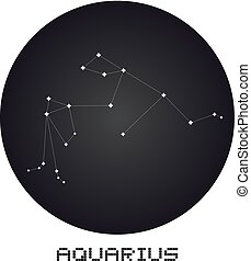 Aquarius icon - Creative design of Aquarius icon