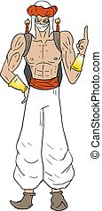 arabian strong man draw - Creative design of arabian strong...