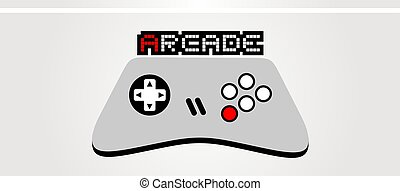 Arcade game control symbol - Creative design of Arcade game...