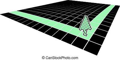 Arrow corner figure