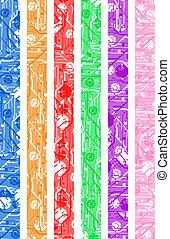 color vertical banner