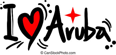 Aruba love - Creative design of Aruba love