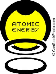 Atomic energy icon - Creative design of Atomic energy icon