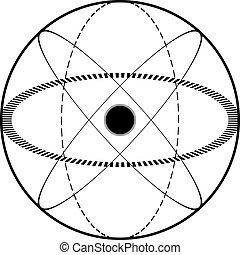atomic science symbol - Creative design of atomic science...