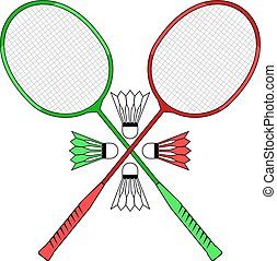 badminton club illustration - Creative design of badminton...