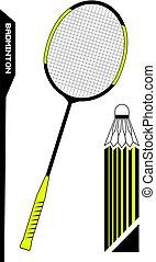 badminton set illustration elements