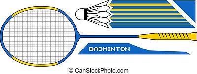 badminton set illustration