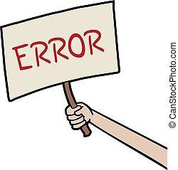 Creative design of banner error message