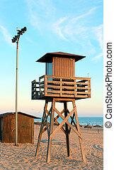 beach security tower