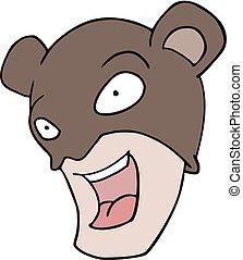 bear mask illustration