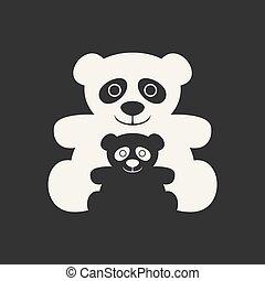 bear panda family symbol
