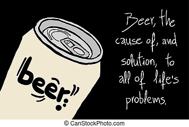 beer can with message