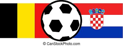 Belgium and Croatia football - Creative design of Belgium...