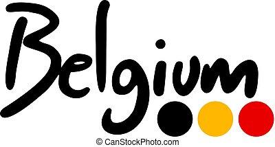Creative design of Belgium symbol design