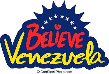 believe Venezuela symbol - Creative design of believe...