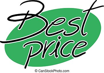 best price sign - Creative design of best price sign