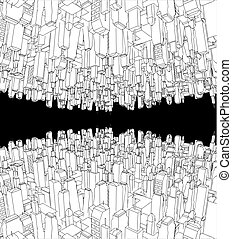 big city abstract background