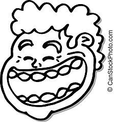 Big mouth man