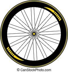 bike road wheel draw