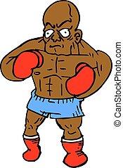 Black boxer strong