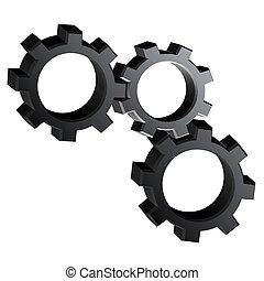 black machine pieces