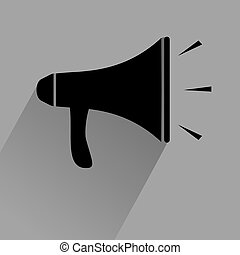 black megaphone icon