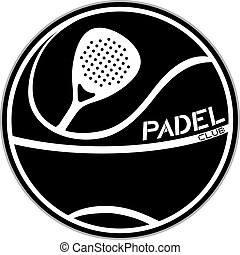 black padel club symbol
