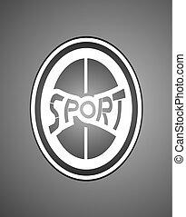 black style Sport symbol