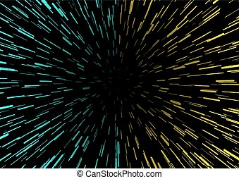 blue and yellow speed universe