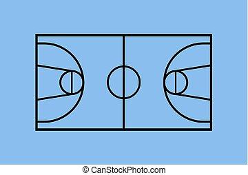 blue basket court