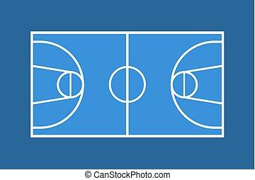 blue basket court draw