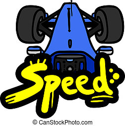blue car speed