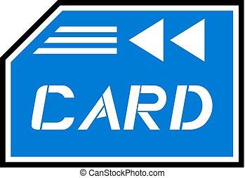 blue card symbol