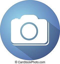 blue circle cam icon - Creative design of blue circle cam...