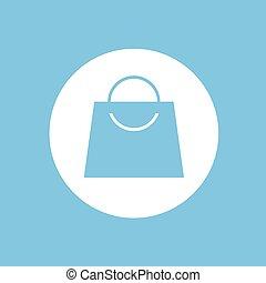 blue circle shopping bag icon