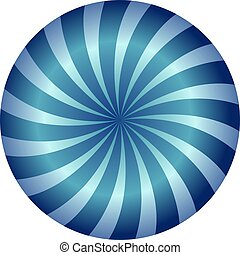 blue circle spiral background