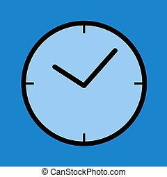 blue clock symbol