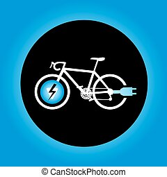 blue electro bike sign