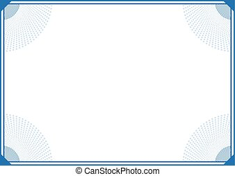 blue elegant frame background