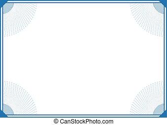 blue elegant frame background