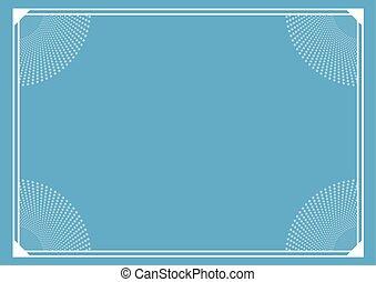 blue elegant frame cover