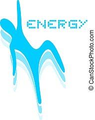 blue energy symbol