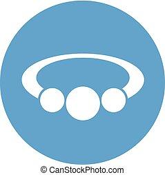 blue flat bracelet icon - Creative design of blue flat...