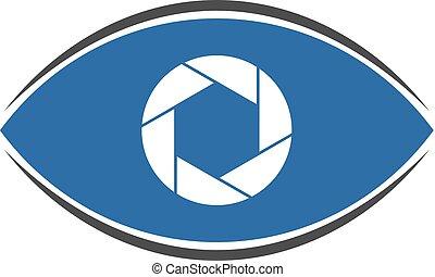 blue flat cam icon